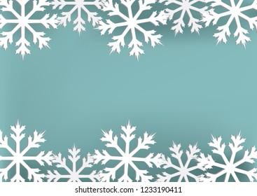 Snowflake card. vector illustration