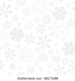 Snowflake christmas and new year seamless pattern vector illustration