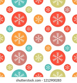 Snowflake, Christmas seamless pattern for use as wrapping paper gift,wallpaper or background