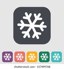 Snowflake flat icon. Vector illustration EPS.