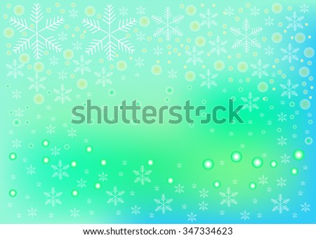 Snowflake Group Circle On Green Color Stock Vector (Royalty