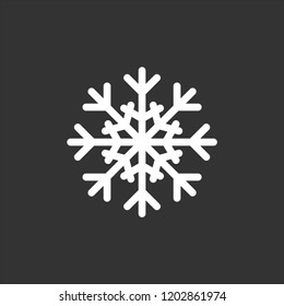 Snowflake icon. Christmas and winter theme. Simple flat black illustration