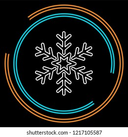 Snowflake icon. Christmas and winter theme. Simple flat illustration.