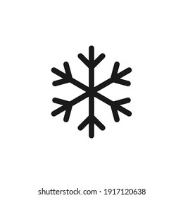 Snowflake icon design. Symbol of cold, winter, snow, ice, winter weather.Vector illustration.