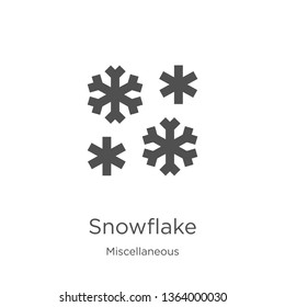 snowflake icon. Element of miscellaneous collection for mobile concept and web apps icon. Outline, thin line snowflake icon for website design and mobile, app development