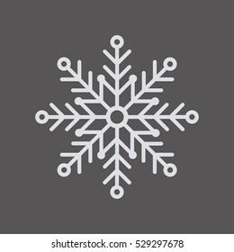 Snowflake     icon,  isolated. Flat  design.