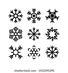 snowflake icon or logo isolated sign symbol vector illustration - Collection of high quality black style vector icons
