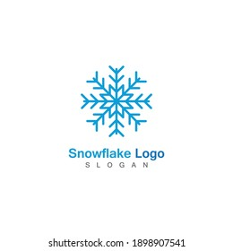 Snowflake icon Logo Template vector symbol design