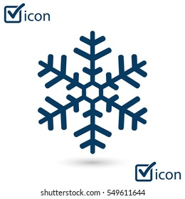Snowflake icon. New Year decoration. All to celebrate the New Year and Christmas.