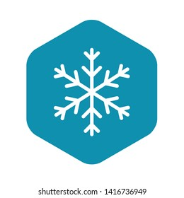 Snowflake icon. Outline snowflake vector icon for web design isolated on black background