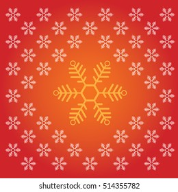 Snowflake icon pattern. Merry Christmas and New Year design vector