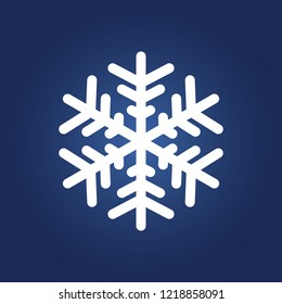 Snowflake icon simple winter sign