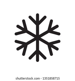 Snowflake icon. Snow in the  winter. Simple flat black illustration . Vector graphics