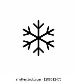 Snowflake icon symbol vector