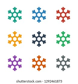 snowflake icon white background. Editable filled and line snowflake icon from smarthome. Trendy snowflake icon for web and mobile.