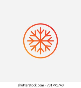 Snowflake icon.gradient illustration isolated vector sign symbol