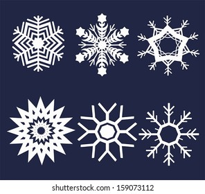Snowflake illustration set, create by vector