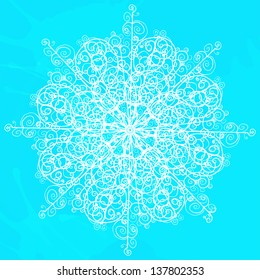 Snowflake isolated - vector