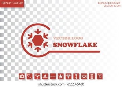 Snowflake logo, icon vector illustration