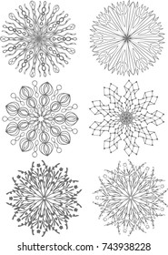 Snowflake Mandala Graphic Resources