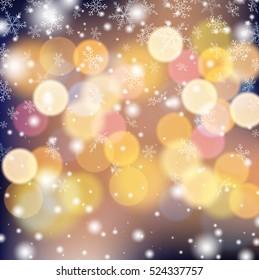 Snowflake on colorful illumination background