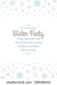 Snowflake Party Invitation Two