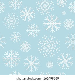 Snowflake pattern on a blue background