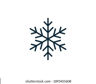 Snowflake premium line icon. Simple high quality pictogram. Modern outline style icons. Stroke vector illustration on a white background.