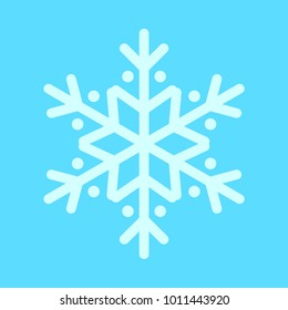 Snowflake Rounded Vector Graphic Illustration Sign Symbol Design
