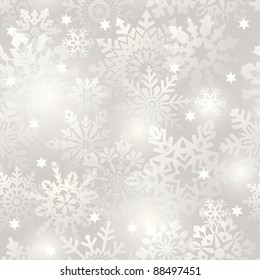 Snowflake seamless background - vector pattern for continuous replicate. See more seamlessly backgrounds in my portfolio.
