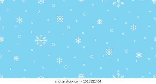 Snowflake seamless pattern Christmas vector snow Xmas Santa Claus scarf isolated repeat wallpaper tile background illustration gift wrapping paper design
