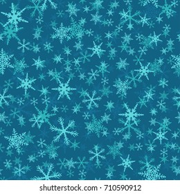 Snowflake Seamless Pattern - Great for Winter and Christmas Projects.