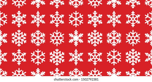 Snowflake seamless pattern vector Christmas snow Xmas Santa Claus scarf isolated wallpaper tile background illustration gift wrapping paper red design