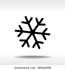 Snowflake sign icon, vector illustration. Flat design style
