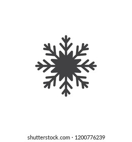 Snowflake vector icon. filled flat sign for mobile concept and web design. Snow solid icon. Cold symbol, logo illustration. Pixel perfect vector graphics