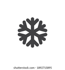 Snowflake vector icon. filled flat sign for mobile concept and web design. Snowflake glyph icon. Symbol, logo illustration. Vector graphics