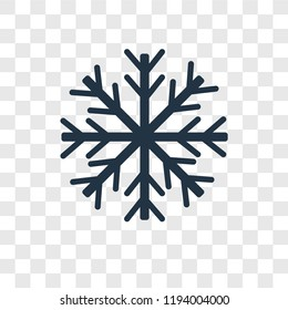 Snowflake vector icon isolated on transparent background, Snowflake transparency logo concept