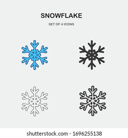 snowflake vector icon winter weather icon
