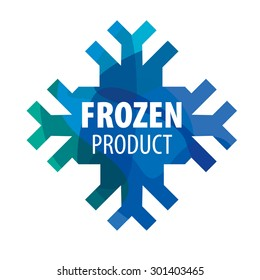 Snowflake vector logo for frozen products
