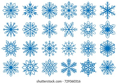 Snowflake Vector Ornaments Set 11. Great for winter and Christmas projects.