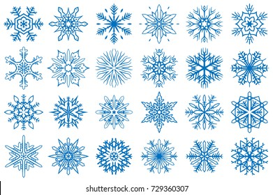 Snowflake Vector Ornaments Set 13. Great for winter and Christmas projects.