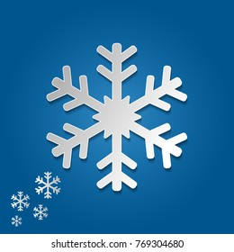 Snowflake vector in paper art and craft style for happy christmas and new year. vector illustration.