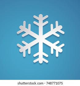 Snowflake vector in paper art style.