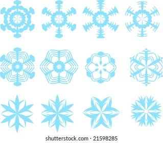 Snowflake Vector Patterns