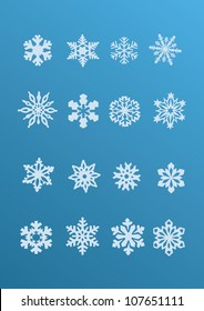 Snowflake winter set (vector )