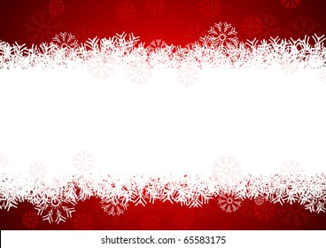snowflakes background for winter and christmas theme