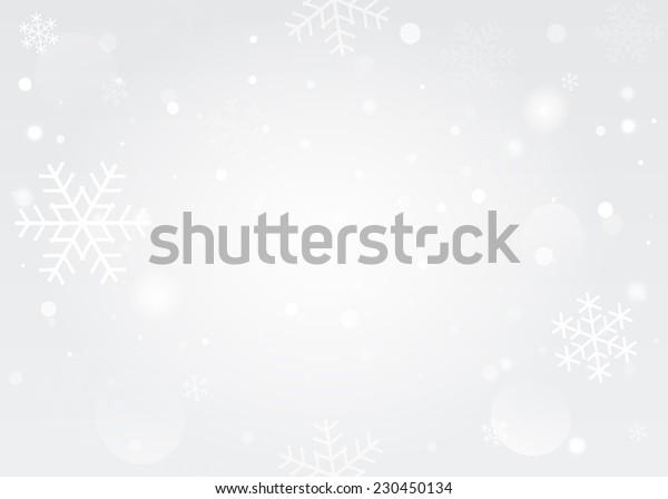 Snowflakes bokeh background. Vector EPS10.