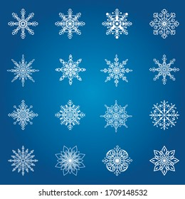 Snowflakes design for winter. Christmas design background vector. New Year. Winter snowflakes. Vector illustration