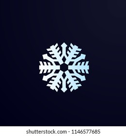 snowflakes logo, icon, symbol, sign vector for decoration.