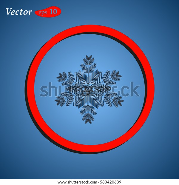 snowflakes on a background. web design style